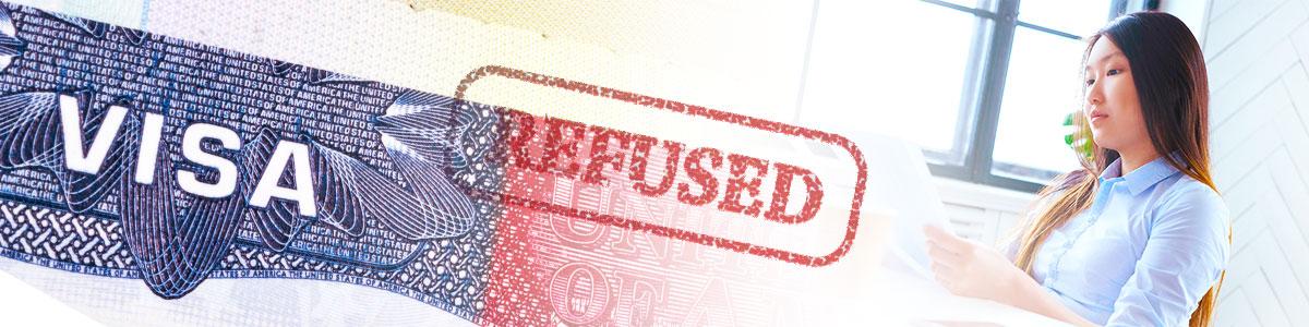 221(g) US visa refusal  Blue, pink, yellow, green, white