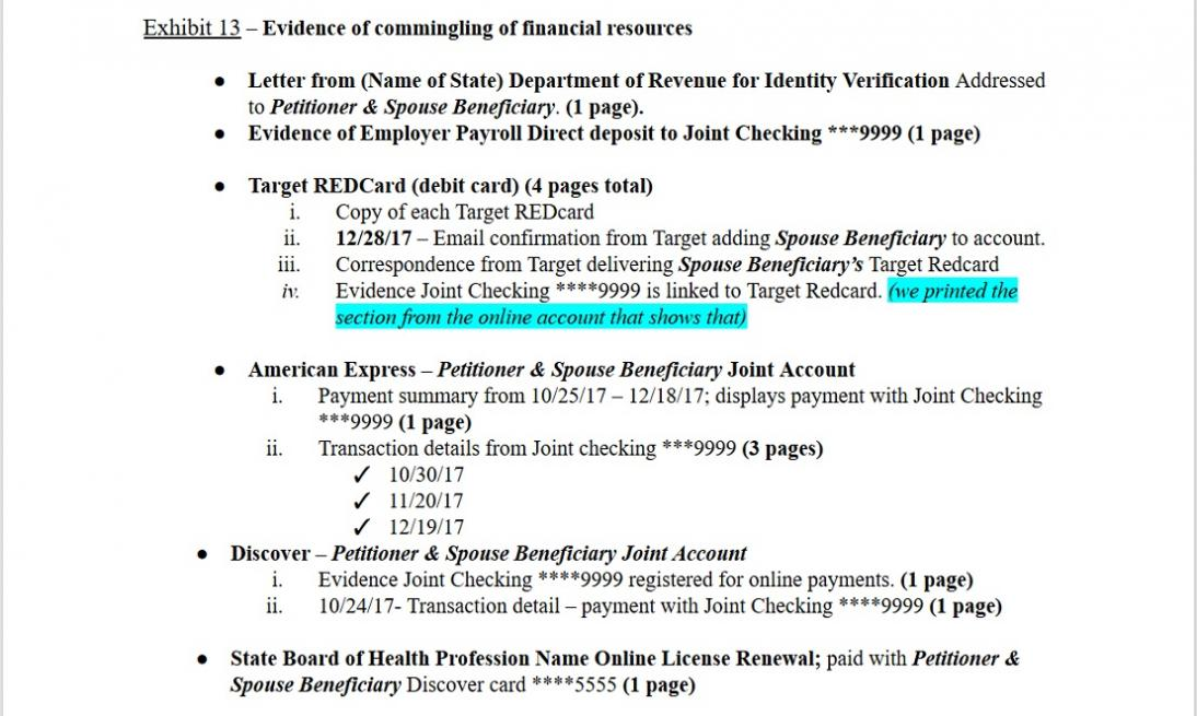 what documents to bring to a marriagebased green card