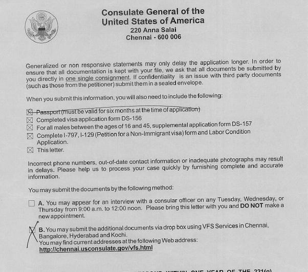 221(g) Blue form - Immigration forums for visa, green card