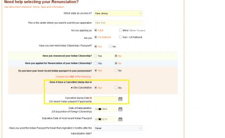 Renouncing Indian Citizenship - Cancellation stamp date question on ...