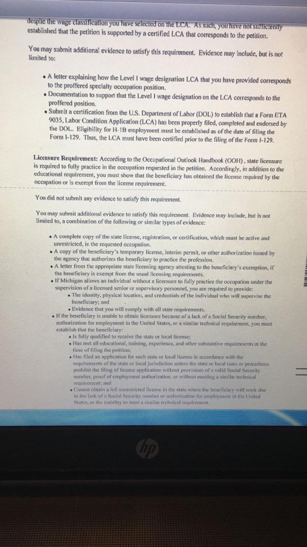 H1b Rfe Job Description Sample