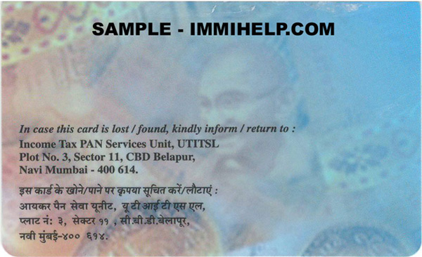 Pan card filled sample forms for application -.